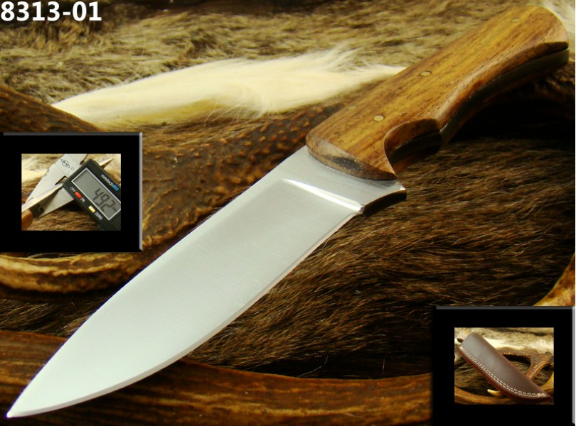 Fixed Blade D2 Steel Hunting Knife With Sheath