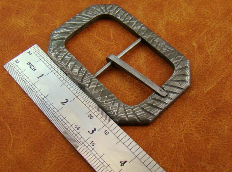 Damascus Steel Belt Buckle